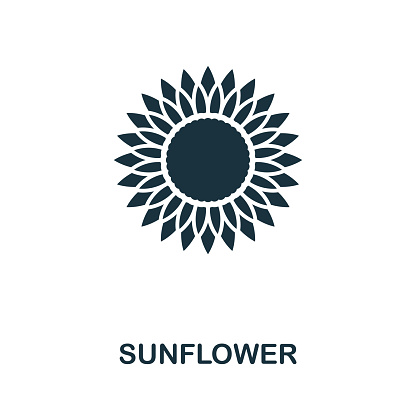 Sunflower vector icon symbol. Creative sign from sunflower icons collection. Filled flat Sunflower icon for computer and mobile