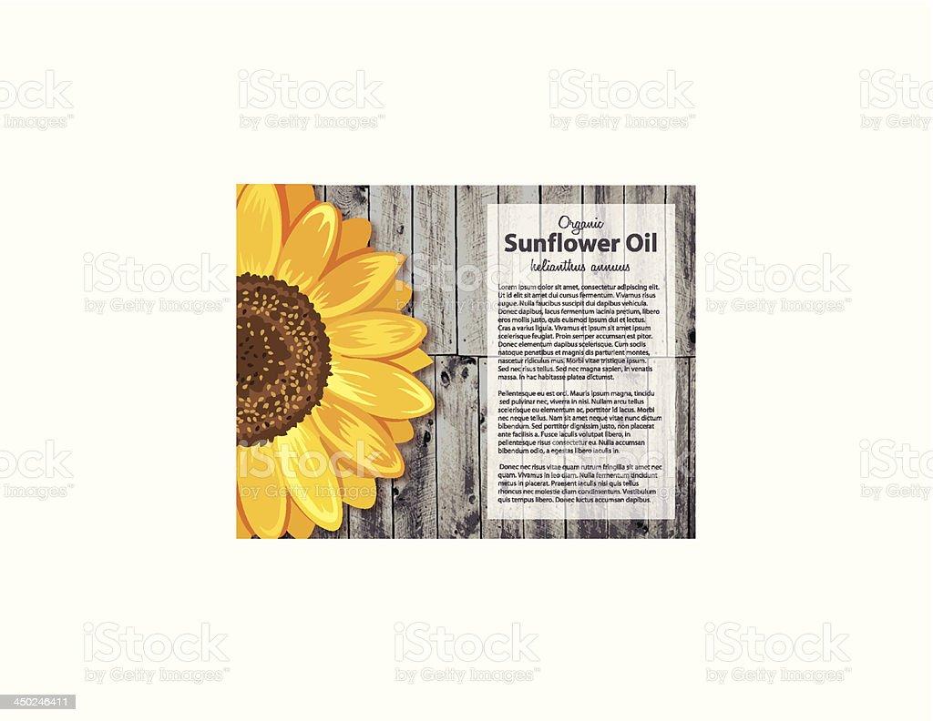 Sonnenblume Holzdesignvorlage Stock Vektor Art und mehr Bilder von ...