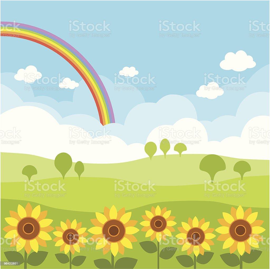 sunflowers royalty-free stock vector art