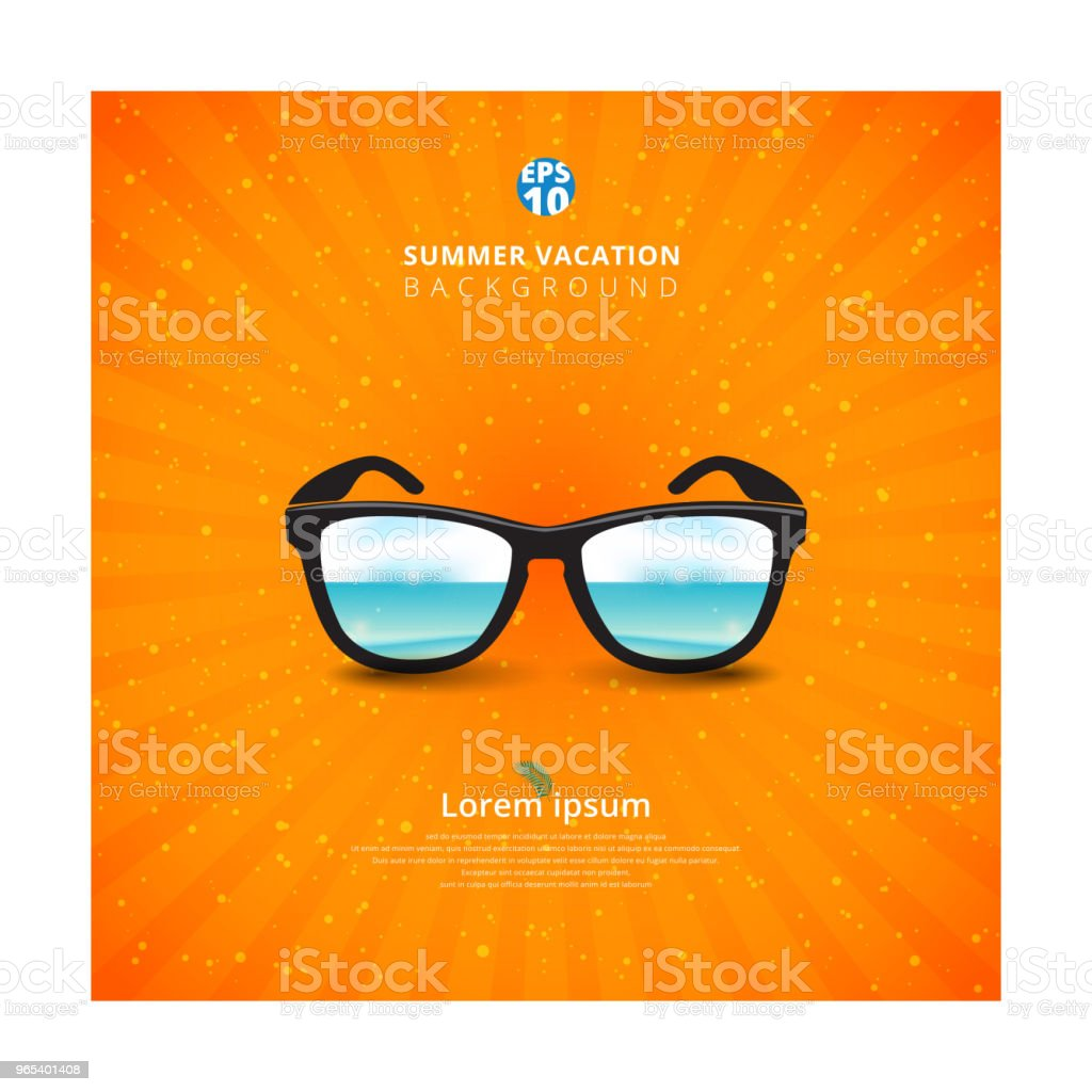 Sunglass with seascape. Summer background royalty-free sunglass with seascape summer background stock vector art & more images of advertisement