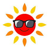 Sunglasses and sun icon