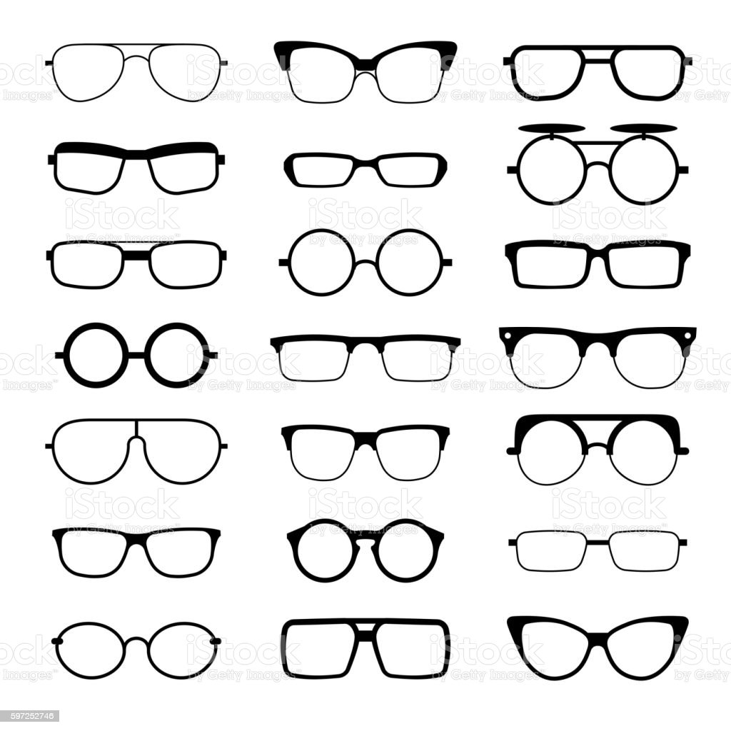 Sunglasses Eyeglasses Geek Glasses Different Model Shapes ...