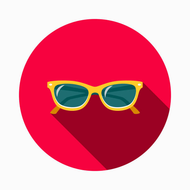 sunglasses flat design bbq icon with side shadow - sunglasses stock illustrations, clip art, cartoons, & icons