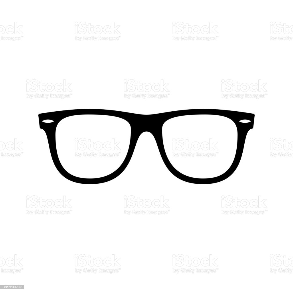 Sunglasses icon. Black, minimalist icon isolated on white background. vector art illustration