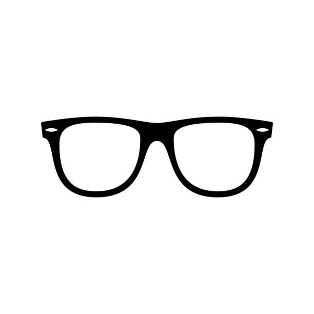 선글라스 아이콘입니다. 블랙, 미니 멀 아이콘 흰색 배경에 고립입니다. - 선글라스 stock illustrations