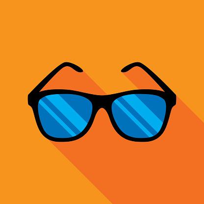 Sunglasses Icon Flat