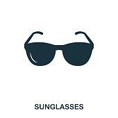 istock Sunglasses icon. Mobile app, printing, web site icon. Simple element sing. Monochrome Sunglasses icon illustration. 980804086