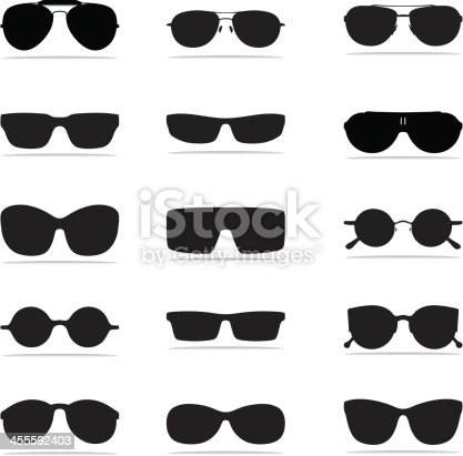 An assortment of Sunglasses Icon Set in a variety of shapes, background can be removed, vector format, EPS, AI, PDF and CDR X4.