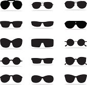 Sunglasses Icon Silhouettes