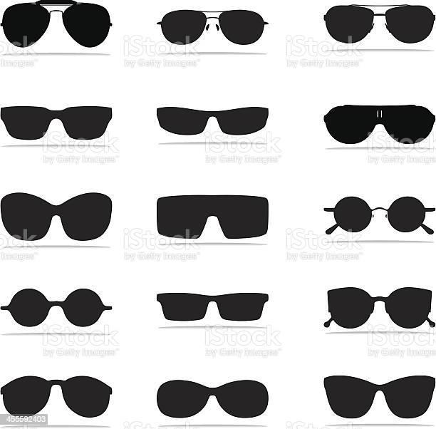 선글라스 아이콘크기 실루엣 검은색에 대한 스톡 벡터 아트 및 기타 이미지