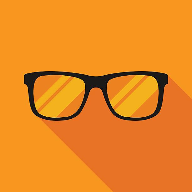 sunglasses icon with long shadow. flat style vector illustration - uncool stock-grafiken, -clipart, -cartoons und -symbole