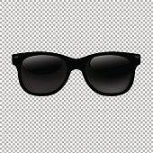 透明な背景でサングラス
