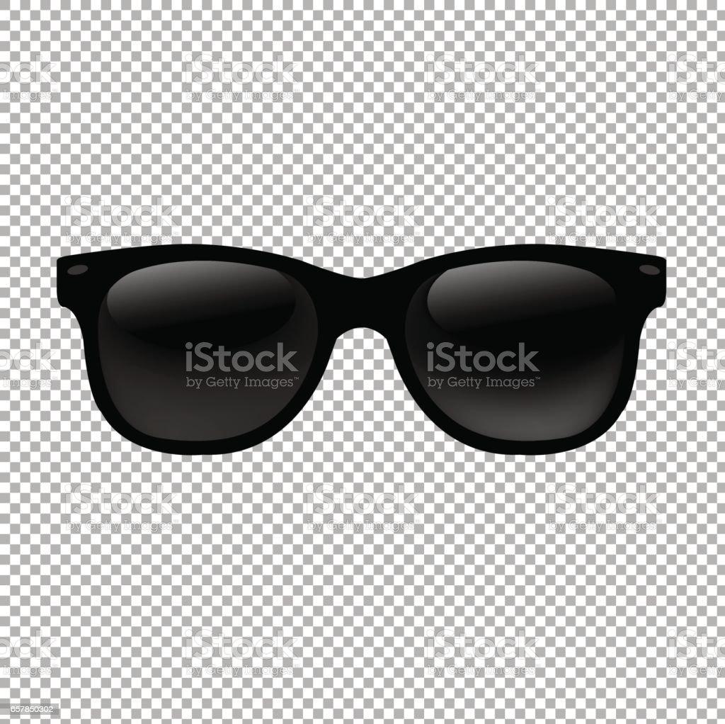 Sunglasses In Transparent Background vector art illustration
