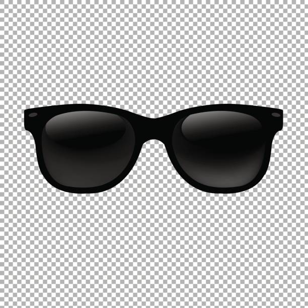sunglasses in transparent background - sunglasses stock illustrations, clip art, cartoons, & icons