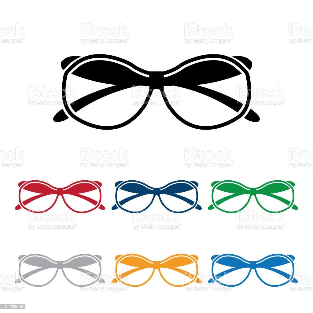 Sonnenbrille Oder Wissenschaftler Brille Verschiedene Farben Vektor ...