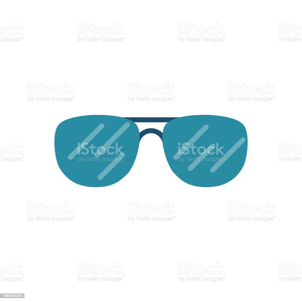 Sunglasses Related Vector Icon vector art illustration