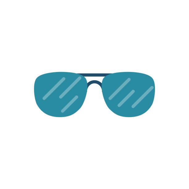Sunglasses Related Vector Icon vector art illustration