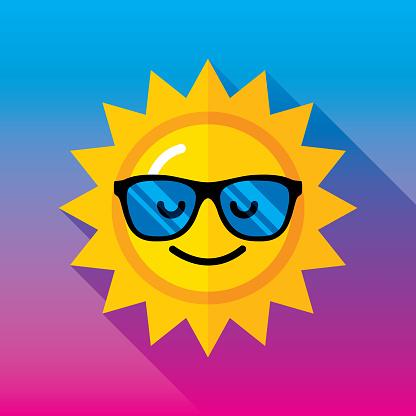 Sunglasses Sun Icon Flat 2