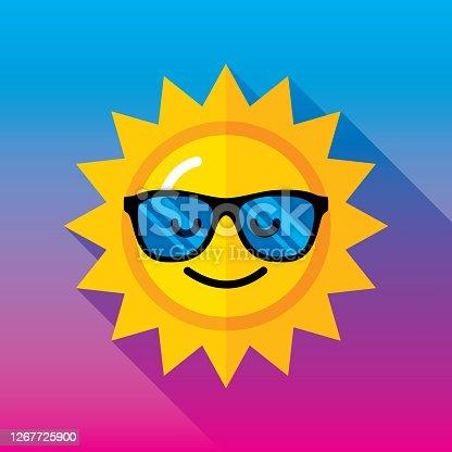 istock Sunglasses Sun Icon Flat 2 1267725900