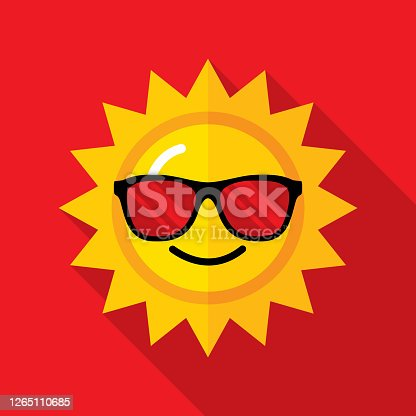 istock Sunglasses Sun Icon Flat 1265110685