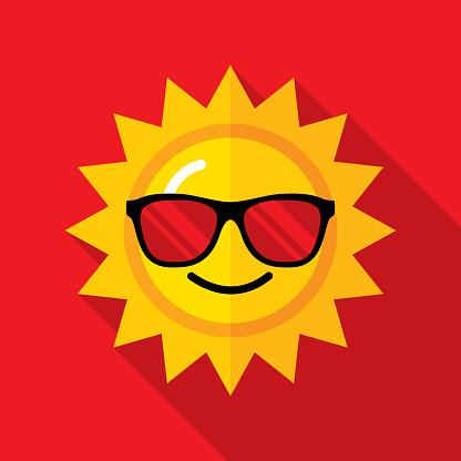 Sunglasses Sun Icon Flat