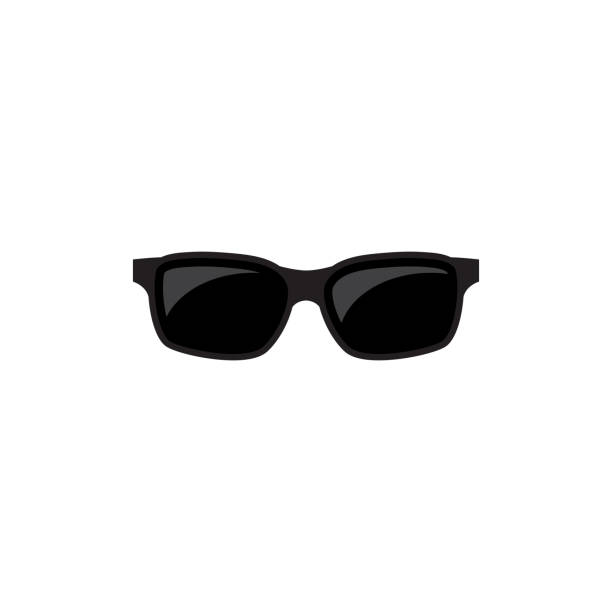 sunglasses vector icon - sunglasses stock illustrations, clip art, cartoons, & icons