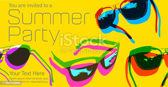 Posterised or Pop Art styled Sunglasses