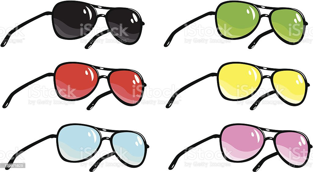 Sunglasses royalty-free sunglasses stock vector art & more images of black color