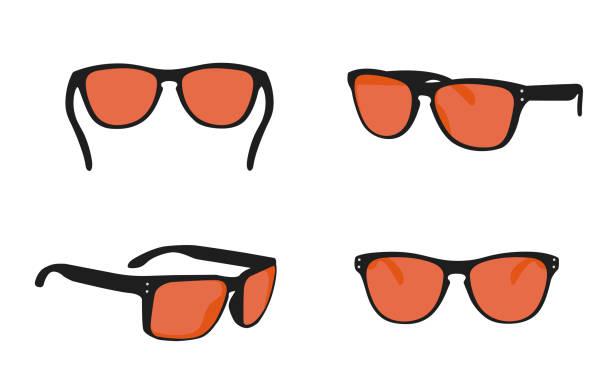 다른 측면에서 선글라스 보기 - 선글라스 stock illustrations
