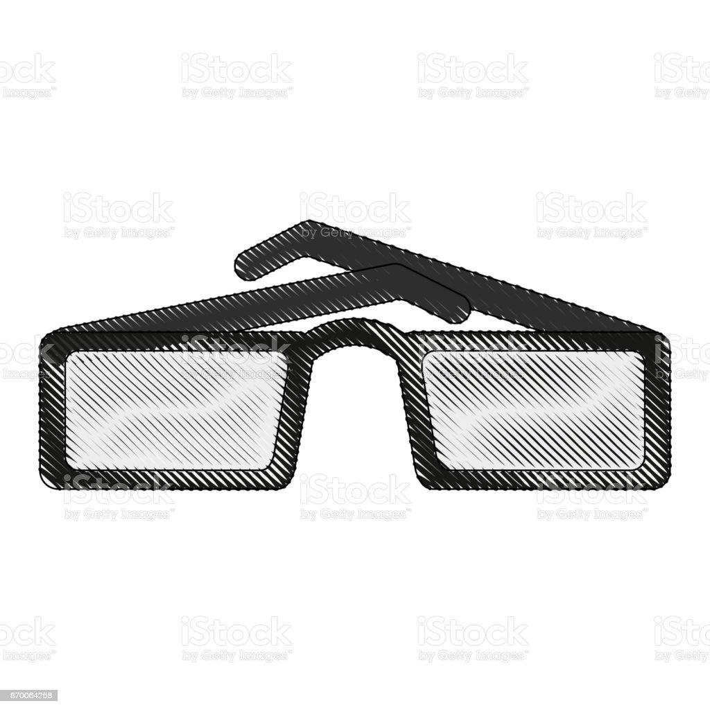 Sonnenbrille Mit Quadratischen Rahmen Symbolbild Stock Vektor Art ...