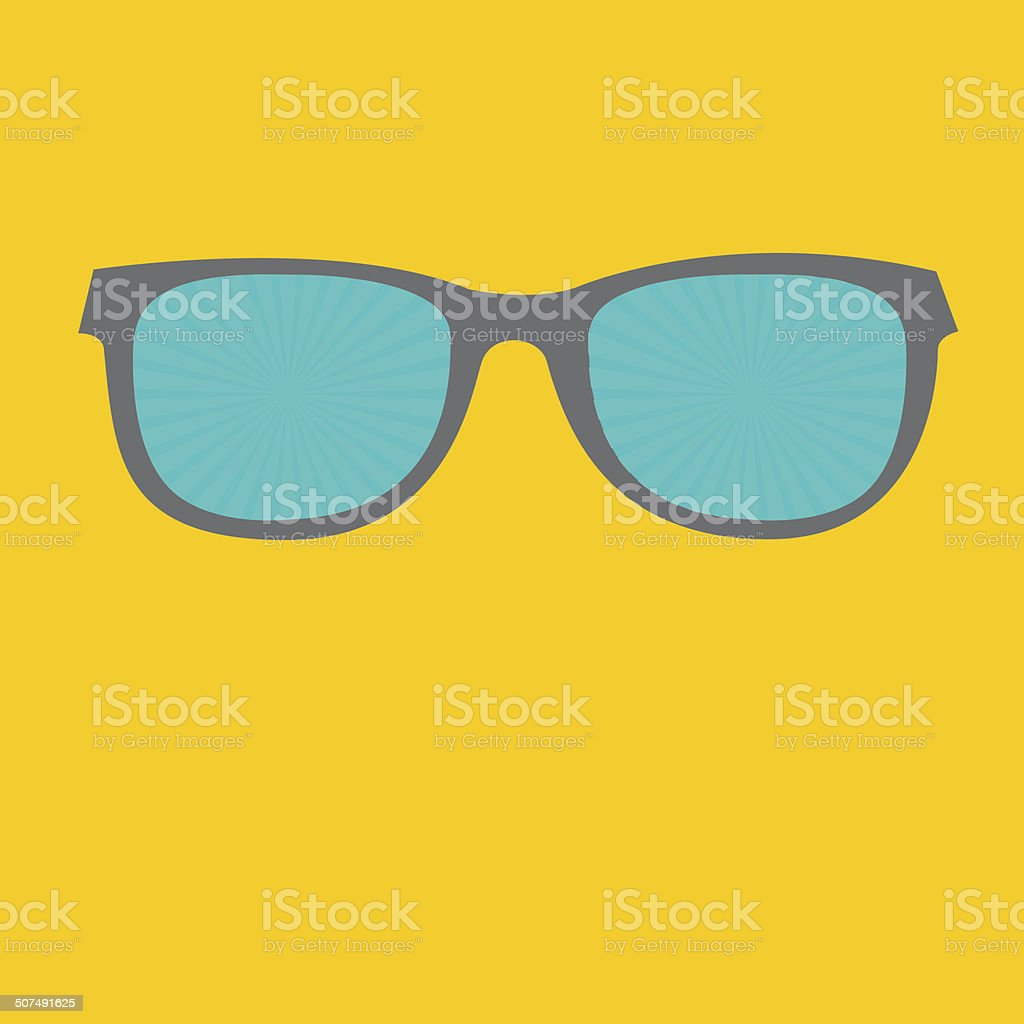 3c9b22292650 Sunglasses with sunburst glasses. Flat design style. royalty-free sunglasses  with sunburst glasses