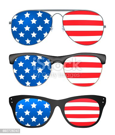 istock sunglasses with united states of america flag 692728242