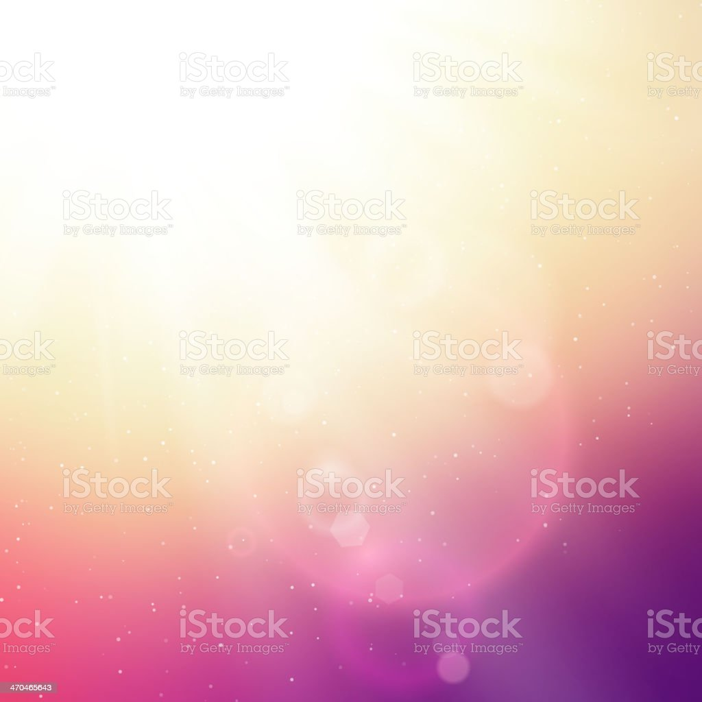 Sunlight abstract background with lens flares vector art illustration