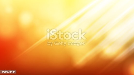 Sunlight Background Vector. Sky, Sun. Yellow Bright Design. Spring Time Illustration