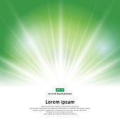 sunlight effect sparkle on green background christmas with copy space. Abstract vector