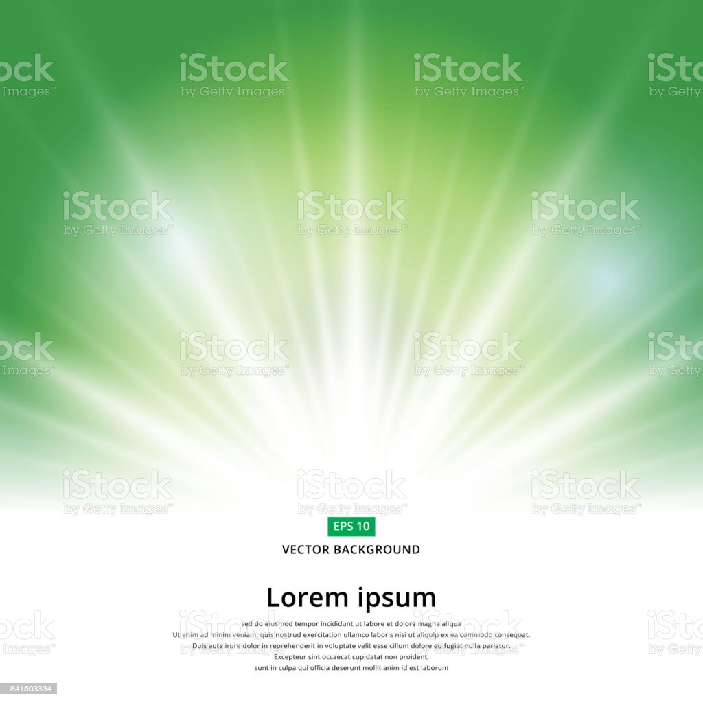 sunlight effect sparkle on green background christmas with copy space. Abstract vector vector art illustration