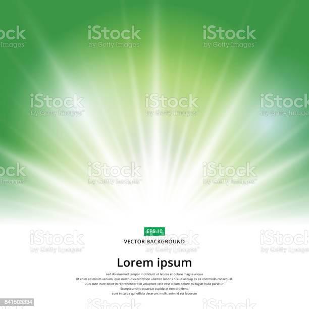 Sunlight Effect Sparkle On Green Background Christmas With Copy Space Abstract Vector - Arte vetorial de stock e mais imagens de Abstrato