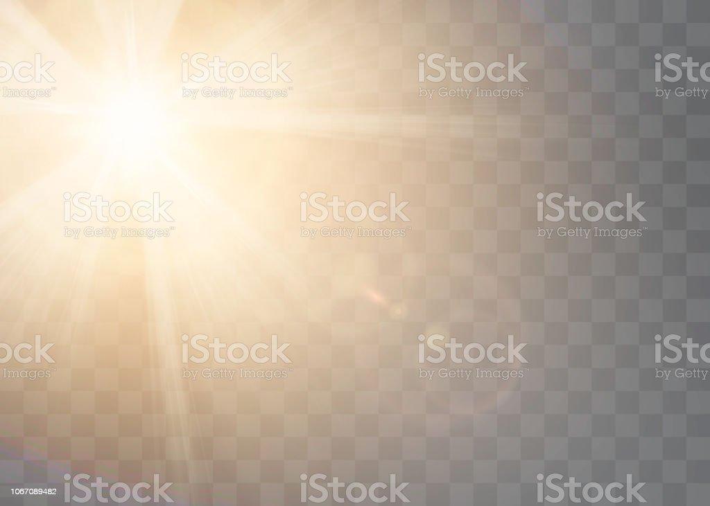Sunlight On A Transparent Background Glow Light Effects Star