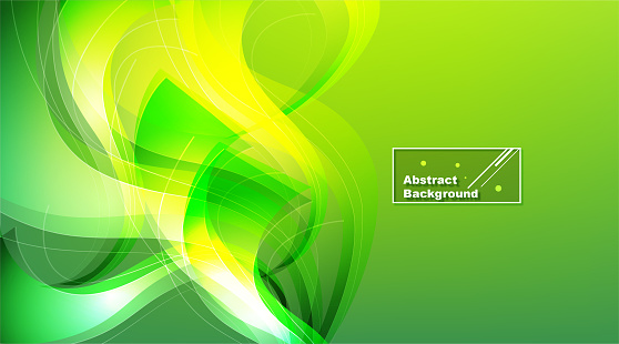 Sunny abstract green modern background