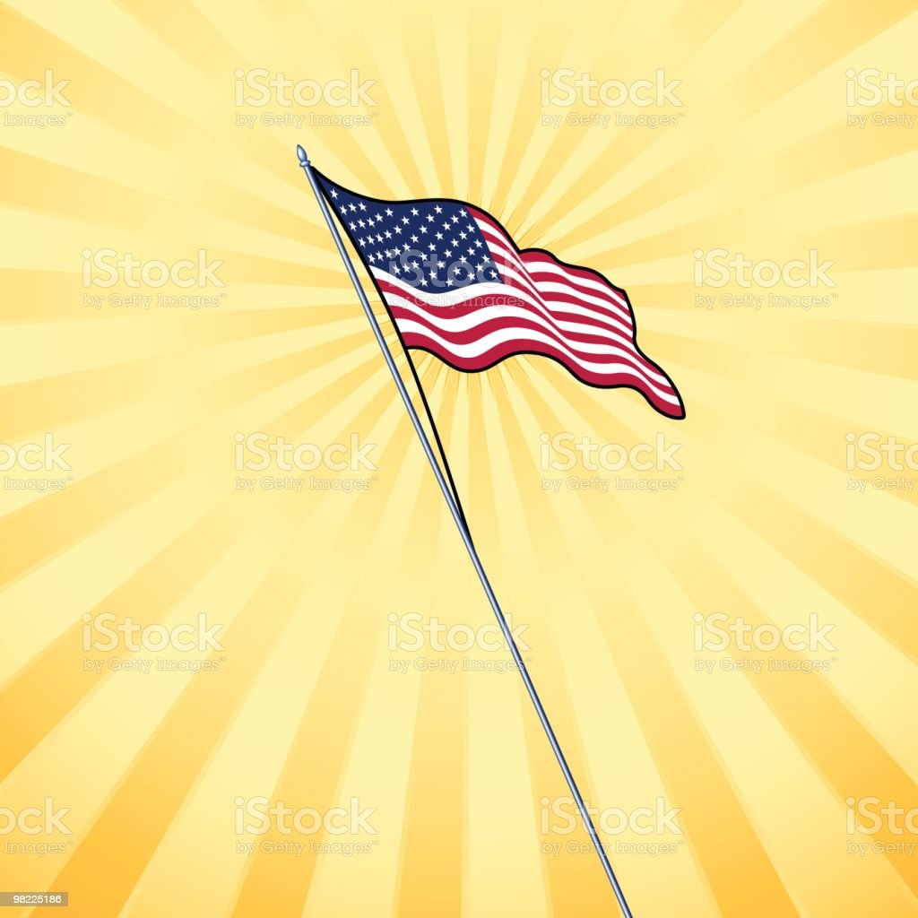 Sunny American Flag royalty-free sunny american flag stock vector art & more images of american culture