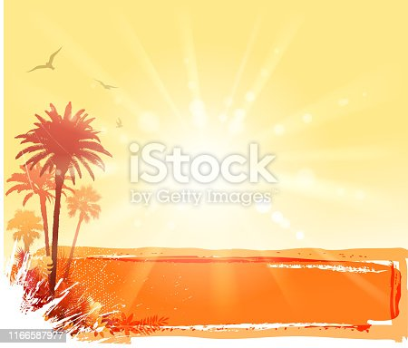Drawing of vector blank sunlight summer banner. Created by illustrator cs6. This file of transparent.