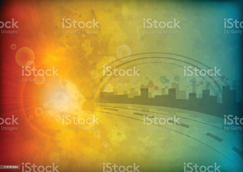 Sunny city royalty-free stock vector art