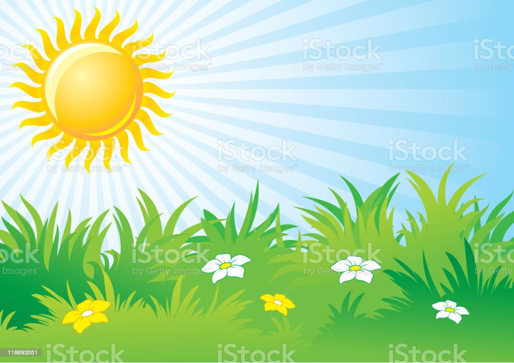 sunny day, background royalty-free stock vector art