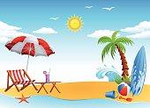 Sunny Day on the Beach