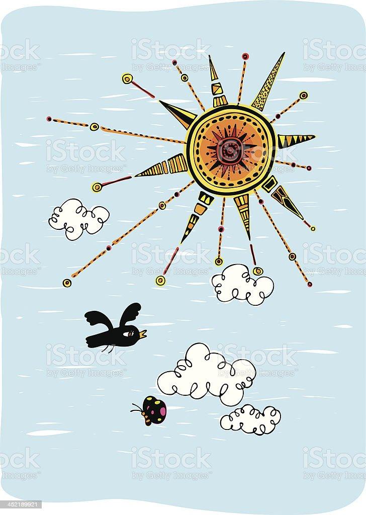 Sunny day royalty-free stock vector art