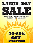 Sunny Labor Day Sale Banner