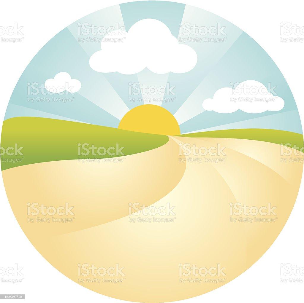 Sunny Landscape royalty-free stock vector art