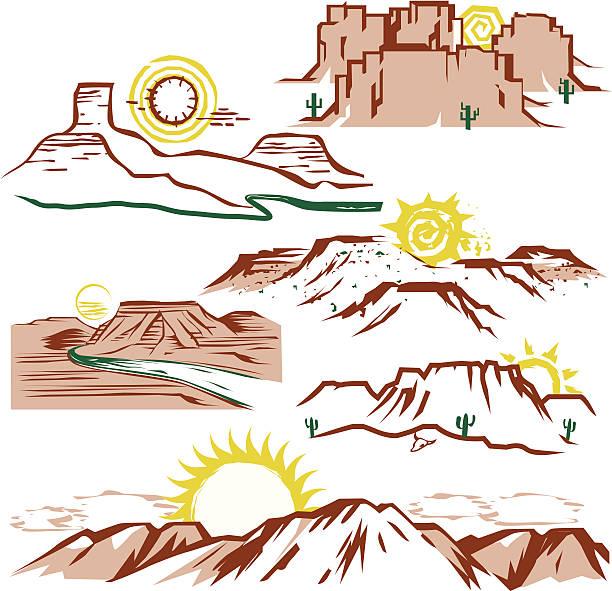 солнечный холмы боска - плато stock illustrations