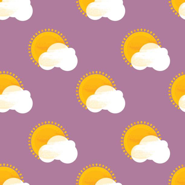 Sunny Seamless Pattern vector art illustration