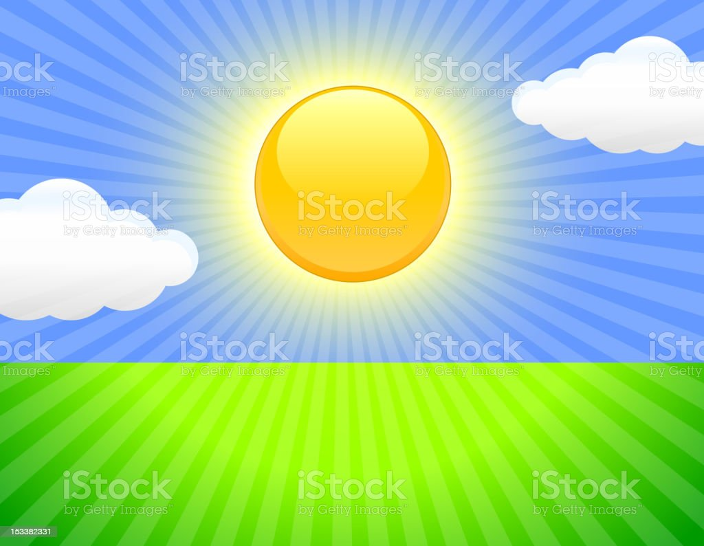 Sunny sky Background royalty-free sunny sky background stock vector art & more images of backgrounds
